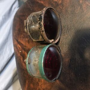 Pair Vintage Truck jeep willy Auto rat Rod Glass Tail Light Lamp