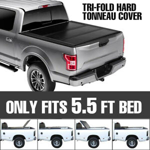 For 2004 2019 Ford F 150 Truck 5 5ft Short Bed Tri Fold Hard Tonneau Cover