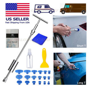 22pcs Paintless Dent Repair Kit 2 in 1 T bar Puller tab Hail Ding Removal Tools