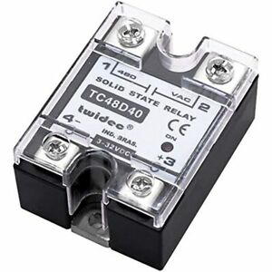 Twidec output Single Phase Ssr Solid State Relay 40a 3 32v Dc To 24 480v Ac amp