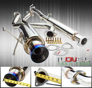 75mm Racing Catback Exhaust System 4 Burnt Tip For 1994 2001 Integra Rs Gs Ls