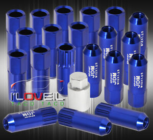 For Chevy 12mmx1 25mm Locking Lug Nuts Truck Suv Exterior 20 Pieces Wheels Blue