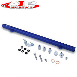 Blue High Flow Engine Fuel Injector Rail For Nissan R32 R33 R34 Rb26 Rb26dett