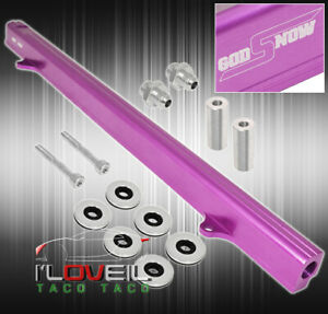 Billet Top Feed Injector Fuel Rail Turbo Kit Purp For Skyline 240sx Rb25 Rb25det