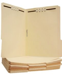 New File Folders With Fasteners Letter Size 50 Pack