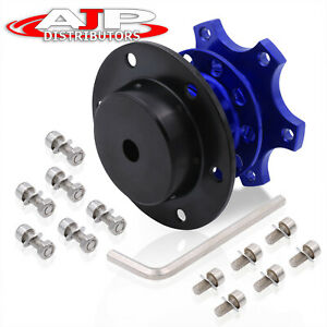Competition Style Black Blue Quick Release Lock Theft Prevention Bolt On Tuning