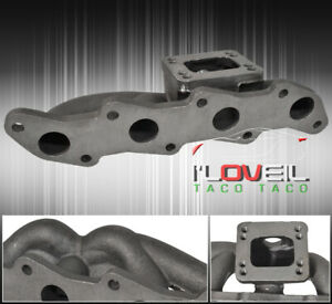T3 T4 Top Mount Exhaust Turbo Manifold Header For 1989 1998 240sx S13 S14 Ka24
