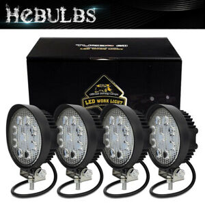 4x Led Work Lights Bar Spot Flood Driving Pods Offroad Combo Truck 5 Inch Round