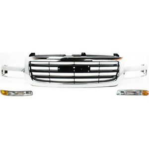 19130791 15199560 15199561 New Set Of 3 Grille Grill For Gmc Sierra 1500 Truck