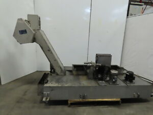 Henning Incline Chip Conveyor Coolant Recovery 12 Belt 48x13 Infeed 49 Disc