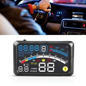 Car Hud Head Up Display Obd Ii Obd2 Auto Gauge 5 5 Dash Screen Projector New