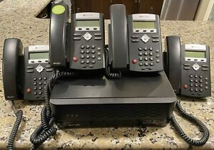 Lot Of 5 Polycom Soundpoint Ip 335 Voip Poe Business Phones Sutus Bc200