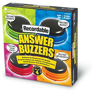 Recordable Answer Buzzers Talking Button Personalized Sound Ages 3 4 Set Toys