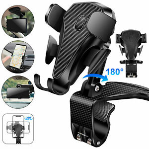 Car Rear View Mirror Mount Stand Holder Cradle 360 Universal For Cell Phone Gps
