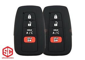 2x New Keyfob Remote Fobik Silicone Cover Fit For Select Toyota Vehicles
