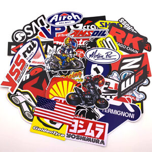120pcs Jdm Stickers Pack Car Motorcycle Racing Motocross Helmet Vinyl Decals Lot