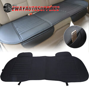 Pu Leather Car Rear Seat Cover Back Bench Chair Cushion Full Protector Universal
