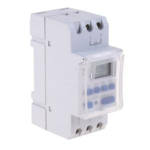 220vac 16a Din Rail Digital Programmable Timer Switch Relay Timer Control