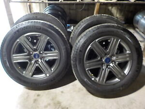 4 Ford F150 Factory 20 Charcoal Wheels Michelin Tires 2020 126h 09 20