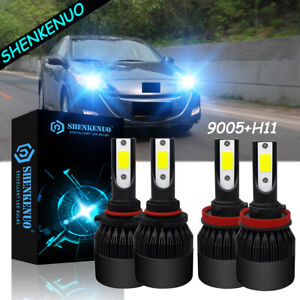 For Mazda 3 Sport 2010 2007 4pc Led Headlight Bulbs High Low Beam 9005 h11