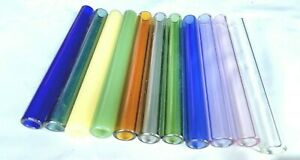 12pcs 12mm X 2mm X 4inch Glass Tube Blowing Pyrex 12mm2mmx4 8 Id Color