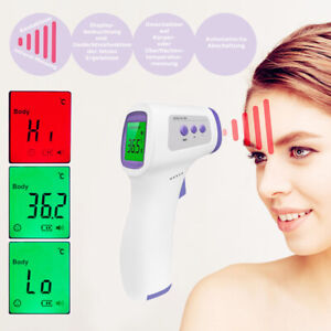 Digital Infrared Forehead Thermometer Non contact Lcd Temperature Gun Usps