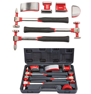 7pc Hand Car Auto Body Work Hammer And Dolly Fender Tool Dent Repair Set Kit New