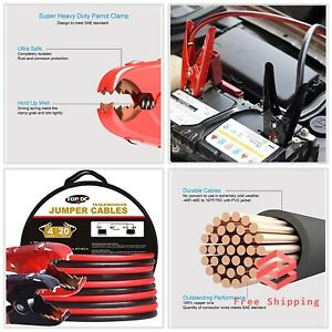 Heavy Duty Booster Cables With Carry Bag Copper Jumper Cables 4 Gauge 20 Ft