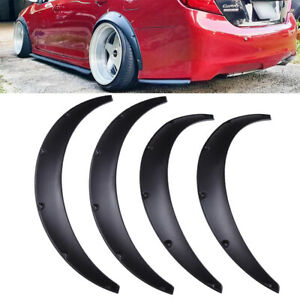 For Toyota Camry 4x Flexible Wheel Arches Fender Flares Extra Wide Body Kit Fits 2010 Toyota Corolla