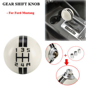 For Ford Mustang 5 Speed Manual Car Ball Gear Shift Knob Shifter White Universal