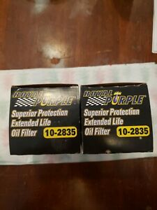 Royal Purple 10 2835 Extended Life Premium Oil Filters 2 Filters In The Lot