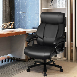 Big Tall 400 Lbs Massage Office Chair Executive Pu Leather Computer Desk Chair