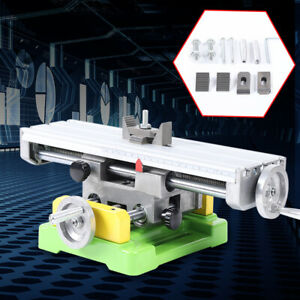 Milling Machine Compound Worktable Cross Slide Bench Drill Vise Fixture Xy axis