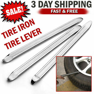 3pcs Motorcycle Spoon Tire Irons Lever Tools Changer Tire Changing Repair Kit Us