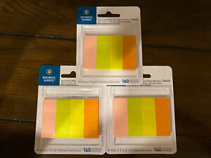 3x Business Source Assorted Adhesive Page Marker Pad 36622 5 8 Inch 17 8 Inch