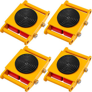 Vevor Machinery Movermachinery Skate Dolly6t W 360 Rotation 4pcs In Yellow