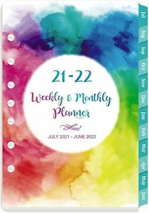 2021 Planner Daily Weekly Monthly Refill January December 7 hole Punched