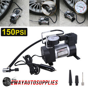 Heavy Duty 12v Portable Car Air Compressor Tire Inflator Auto Tyre Pump 150psi