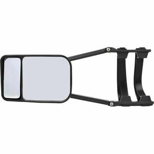 1x Clip on Towing Mirror For Trailer Safe Hauling Adjustable Extension Universal