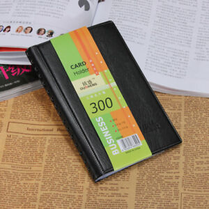 300 Cards Business Name Id Credit Card Leather Holder Book Case Keeper Organizer