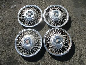 Factory Original 1986 To 1988 Buick 13 Inch Wire Spoke Hubcaps Wheel Covers