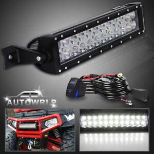 14 Led Light Bar Offroad Dirving Lamps Wiring For Atv Utv Dirt Bike Handlebar