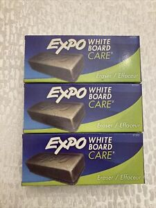 Lot Of 3 Expo White Board Care Eraser 81505 Dry Erase Board Free fast Shipping