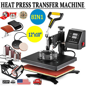 Combo Heat Press Machine 8 In 1 Digital Transfer Sublimation T shirt Swing Away