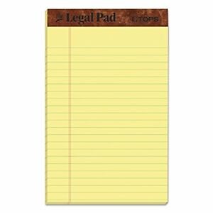 The Legal Pad Writing Pads 5 X 8 Jr Legal 5 X 8 Inch Single Everyday