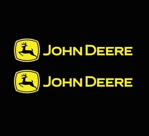 2x John Deere Stickers John Deere Decals Pair Many Color Size Options