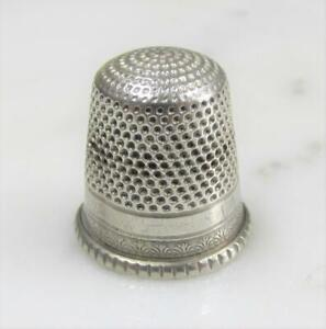 Vintage Sterling Silver Thimble 9 3 4 Grams 12 D917