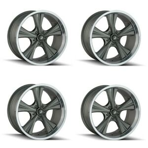 Set 4 20 Ridler 651 Grey Machined Lip 20x10 5x4 75 5x120 65 Wheels 0mm Rims