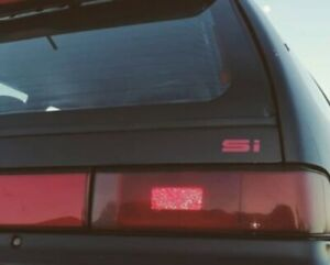 Honda Civic Crx Ed Ef Ee si Decal Honda 88 91 Civic Crx Rear