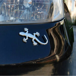 Car Metal 3d Decal Gecko shape Lizard Chrome Alloy Badge Emblem Sticker Decor